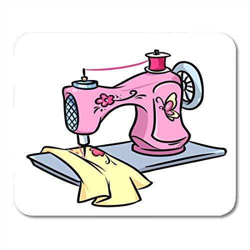 Mauspad zeichnung nähmaschine cartoon grafiken handarbeit handarbeiten nähen arbeit mousepad für notebooks, Desktop-computer mausmatten, Büromaterial