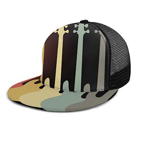 Gorra de béisbol Guitarra eléctrica Retro Vintage Bass Snapback Sombreros Sombrero Hip Hop Plaid Gorras de béisbol ajustables planas