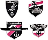 Set of 4 German Medal Lapel PIN BADGE Luftwaffe Kriegsmarine Panzers WW2 Cross World War 2 II WWII