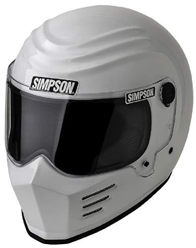 SIMPSON OUTLAW - Casco SNELL M2015 (62 cm), color blanco brillante