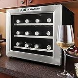 Wine Enthusiast Silent 12 Bottle Wine Refrigerator (Stainless Steel)