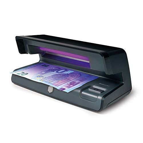 Safescan 50 Negro - Detector UV de billetes falsos, verificación de tarjetas de crédito y documentos de identidad
