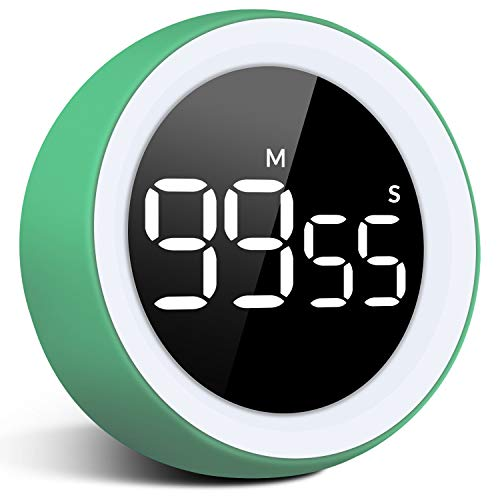 Digital Kitchen Timer,LED Digital Countdown Timer Loud Alarm with Dual Volum 99 Minute 55 Second Visual Analog Timer for Teacher Kids Autism and Elderly,for Home Work Fitness (Include Batteries)