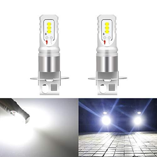 KaTur H3 Led Bombilla antiniebla 80W CSP de Alta Potencia 1600LM 6500K Xenon Blanco Reemplace para luz antiniebla o luz Diurna DRL, Paquete de 2
