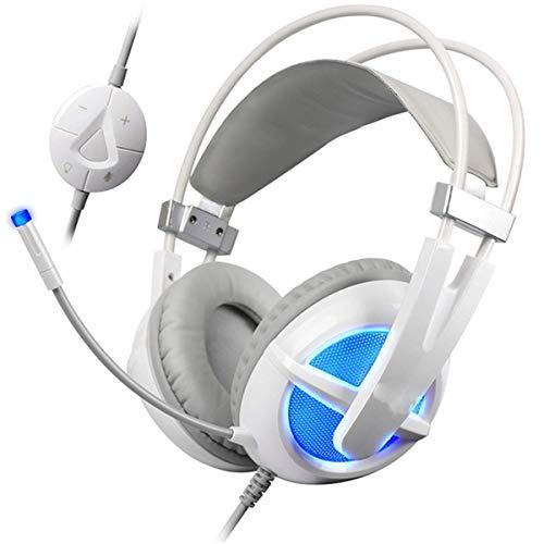 Auriculares de juegos de gama de alta gama Xbox One Auriculares de juego con 7 colores Respiración LED Luz, con micrófono LED LED Cancelación de ruido Sobre Oreja PS4 Auriculares con micrófono de canc