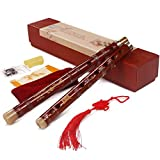 Huan F Características Flauta de bambú Caja de Regalo Flauta, Apto for Jugadores Profesionales, con el Nudo Chino (Size : C)