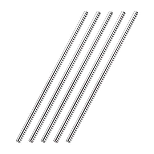 uxcell 5mm x 250mm 304 Stainless Steel Solid Round Rod for DIY Craft - 5pcs