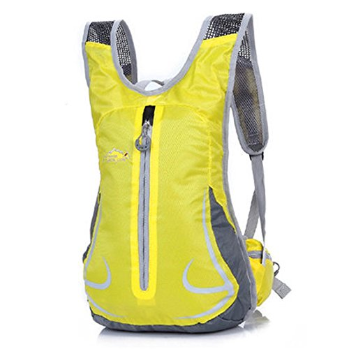 SINCERE@ Équitation sac à dos mâle sac casual épaule femme sac sac de sport vélo sac à dos à dos en plein air ultra-léger (Jaune)