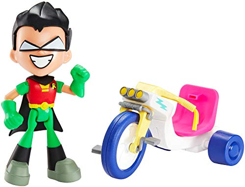 DC Comics Teen Titans GO! to The Movies Robin & Time Cycle Figure & Vehicle