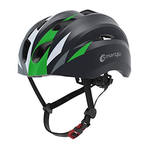 Ye Wang Casco de Bicicleta Inteligente, Cascos de música Bluetooth para Bicicleta...