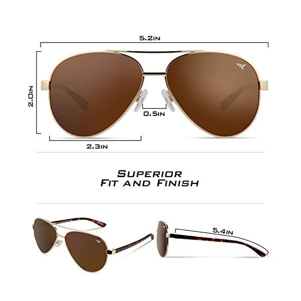 KastKing Kenai Aviator Polarized Sunglasses for Men and Women, Polarized Lenses, 100% UV Protection, Lightweight Frame