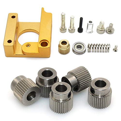 Nrpfell 3D Printer MK8 1.75mm Remote Extruder Kit with Extruder Pulley 36 Teeth Bore 5mm Steel Drive Gear