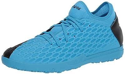 PUMA mens Future 5.4 Turf Trainer Soccer shoe, Luminous Blue-nrgy Blue-puma Blackpink Alert, 11.5 US