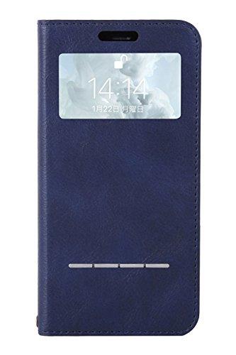 CERTAFLIP窓付きiPhoneXS/Xケース手帳型[ネイビー]