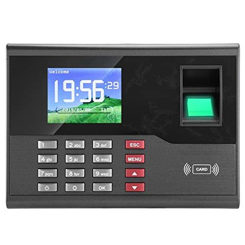 Ichiias Máquina de Asistencia Fácil de Instalar Registrador de Asistencia de Huellas(European Standard (100-240v))