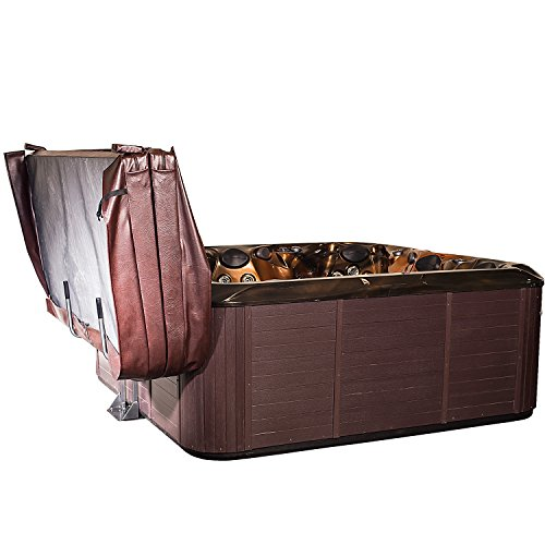 Hot Tub Spa Cover Lift & Storage Caddy Heavy-Duty Top Lifter and Valet with Slide-Under Mounting Plate