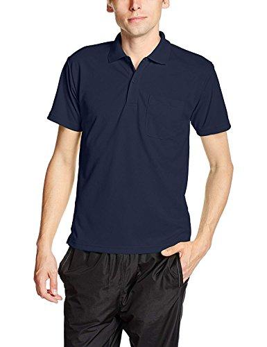 [グリマー] 半袖 4.4オンス ドライ ポロシャツ [ポケット付] 00330-AVP ネイビー LL (日本サイズLL相当)
