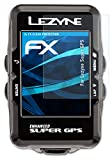 atFoliX Lámina Protectora de Pantalla Compatible con Lezyne Super GPS Película Protectora, Ultra Transparente FX Lámina Protectora (3X)