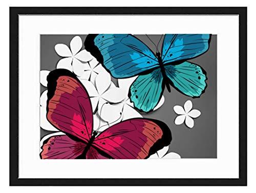 prz0vprz0v 11 x 13 inch zwart fotolijstje vlinder decoratieve kunst prints en opknoping sjabloon, moderne fotolijst