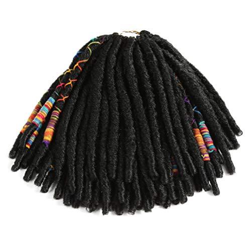 Style Icon 6PCS Crochet Hair Dreadlocks Faux Locs Braiding Hair Extensions Synthetic Dreadlock Jumbo 12 Inch 12 Strands Crochet Hair (12 Inches, 1)