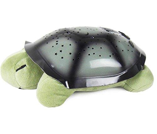 JIANGJIE Kreative Musik Schildkröte Projektion Sternenhimmel Schildkröte Schlafen Lampe Nachtlicht Musik Schildkröte Beleuchtung Urlaub Geschenke Für Kinder,Green