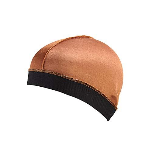 iYmitz Langes Haar Cap Pflege Frauen Mode Mütze Nacht Schlaf Seide Cap Head Wrap Schnell Trocknende Faltbar Hut(Türkis,One size)