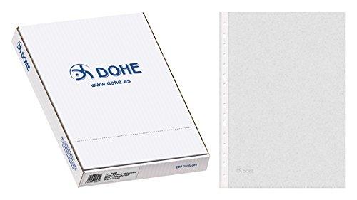 Dohe Basic - Pack de 100 fundas multitaladro, folio, Plus