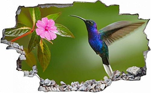 Kolibri Vogel Bird Flower Blume Wandtattoo Wandsticker Wandaufkleber C0133 Größe 60 cm x 90 cm