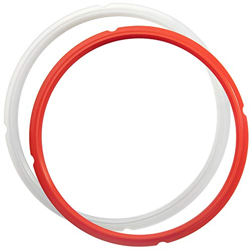 6.5Qt and 8Qt-Sealing-Ring-Silicone-Gasket Accessories by NENAZZZ, Compatible with Ninja Foodi Pressure Cooker and Air Fryer, Rubber Sealer Replacement for OP301,OP302 and OP401, Pack of 2