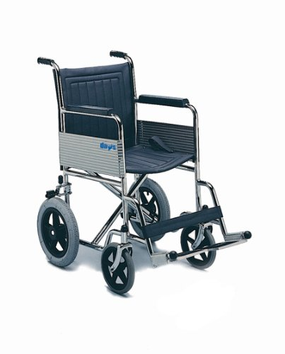 Days Fixed Arm and Leg Rest Attendant Propelled Wheelchair (Eligible for VAT relief in the UK), 138 Manual Wheelchair, Swingaway Footrests, Folds Flat for Storage, Elderly, Disabled, Handicapped