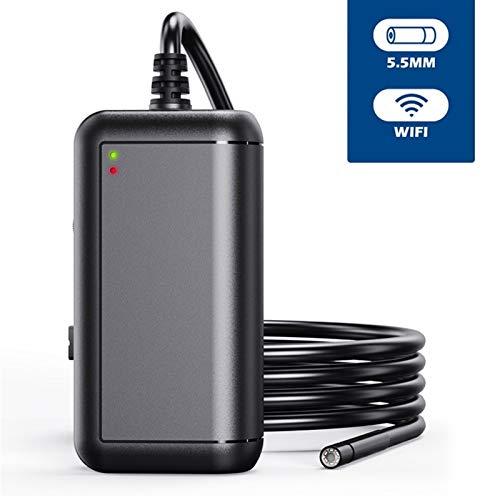 BMZGGIV Portátil Lente 5.5mm WiFi endoscopio HD1080P Impermeable IP67 Endoscopia 6 LED de la cámara 2600 mAh Inspección boroscopio for Android iPhone para inspección de vagones de tuberías