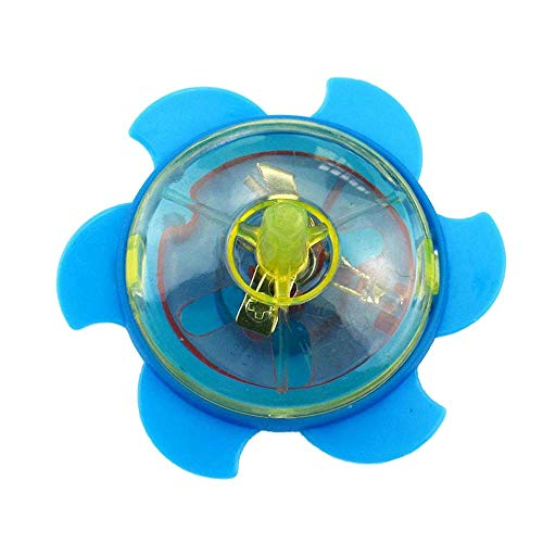 Binory Funny LED Light Up Flying Fidget Spinner Gyroscopic Toys, Rotating Flashing UFO Spinning Gyro Kids Sensory Toy Novelty Children Stress Relief Party Favors Gift (B)