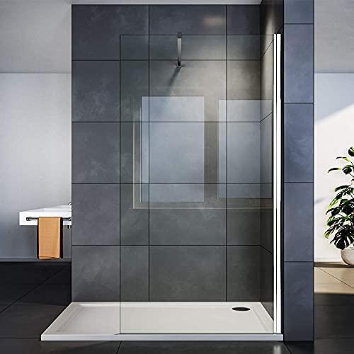 SIRHONA Paroi de douche 90 cm à l'italienne avec...