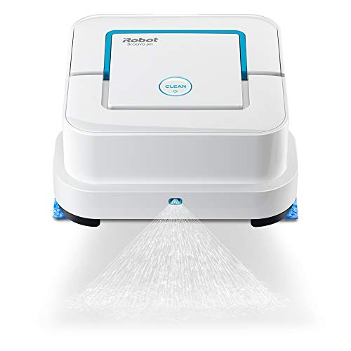 iRobot Braava jet 240 Superior Robot Mop - App enabled, Precision Jet Spray, Vibrating Cleaning Head, Wet and Damp Mopping, Dry Wweeping Modes