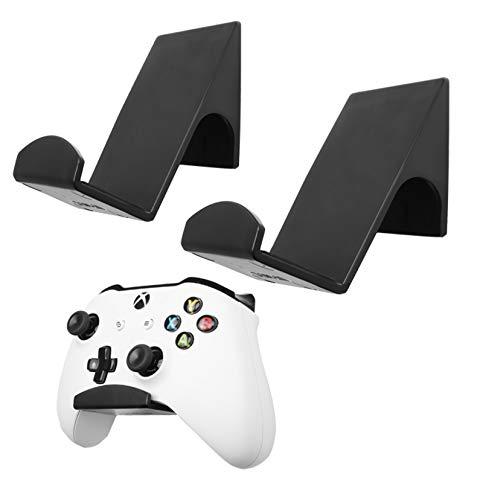 Lot de 2 supports muraux pour manette de jeu Xbox ONE Switch PS4 PS5 Xbox X   S DAMPF PC Nintendo Support adhésif puissant pour manette de jeu universelle
