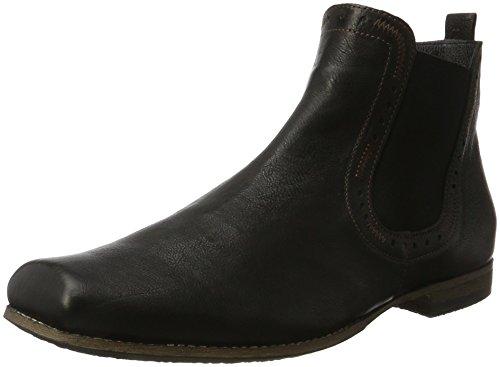 Think! Herren GURU_181698 Chelsea Boots, Schwarz (Sz/Kombi 09), 44 EU