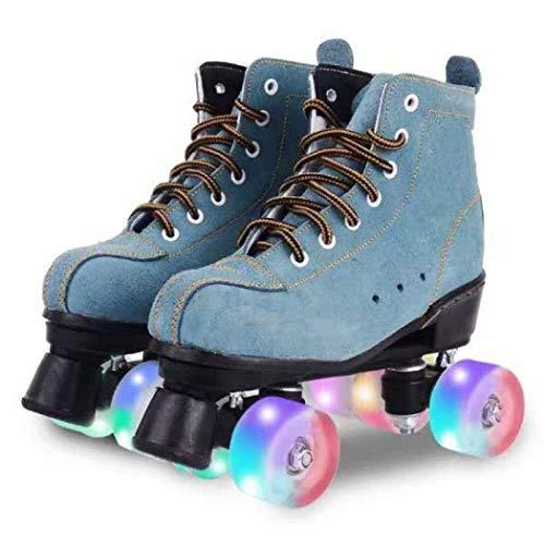 Milky Way Classic - Patines de patinaje artístico, 4 ruedas, unisex, para adultos, Niños, azul, 39