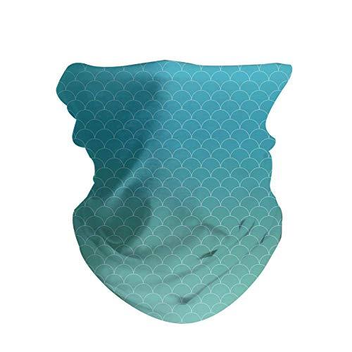 HAOZI 2 diademas para la cabeza, bufanda mágica deportiva, diadema elástica alta con resistencia a los rayos UV, vendaje atlético, banda para el sudor para hombre y mujer, color Escamas de mármol de sirena., tamaño 50 CM x 25 CM