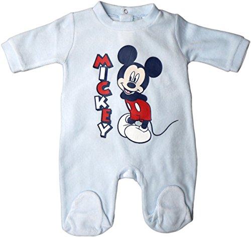 Disney Micky Maus Pyjama/Schlafanzug/Strampler - Mickey! - Hellblau