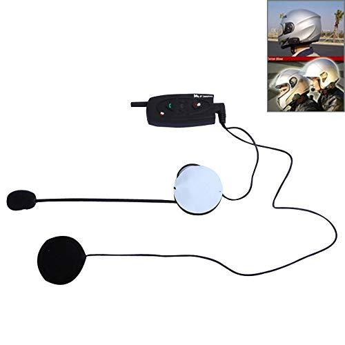 Hanks 'Shop. 2 PCS 500m Leben Wasserdicht Windabweisend Bluetooth Sprechanlage-Kopfhörer for Motorrad-Sturzhelm, Walkie Talkie
