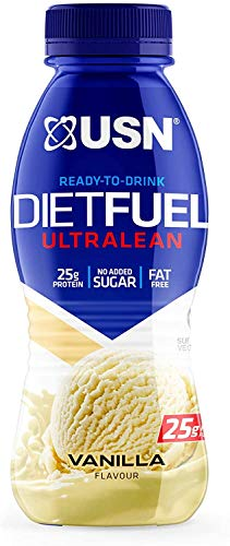 USN Diet Fuel Ready To Drink Protein Shake Vanilla  Pack of 8 X 310ml Protein Shakes