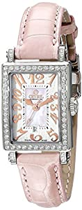 Gevril Women's 8248RL Super Mini Diamond-Accented Stainless Steel Watch with Pink Leather Band