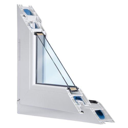 Fenster weiss 2-fach verglast 101x89 (BxH) kipp- und drehbar (DK-Rechts) als Maßanfertigung