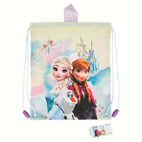 Frozen (Disney)| Mochila Portamerienda para Niños Y Niñas - Bolsa De Cuerdas para Merienda Infantil - Bolsa Saco para El Almuerzo