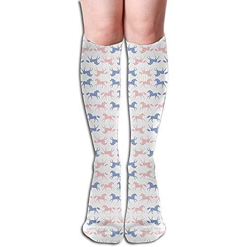 ulxjll Calf Sock Pferde Pantone Rosequartz Serenity Blau Periw Athletic Socks Tube Socks Damen Lange Socken Compression Kniestrümpfe 50Cm