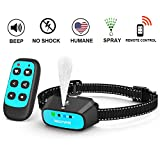 WWVVPET Spray Dog Training Collar with Remote Control,2 Modes Citronella Dog Bark Collar (Not Included Citronella Spray),500 ft Rechargeable No Electric Shock Harmless Anti-Bark Collar