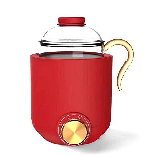 Gesundheitsteebereiter, tragbare, multifunktionale Gesundheits-Wärmflasche, Ein-Schlüssel, 350 ml, geeignet für Büro und Nachmittagstee, Rot WTZ012 (Farbe: Rot)