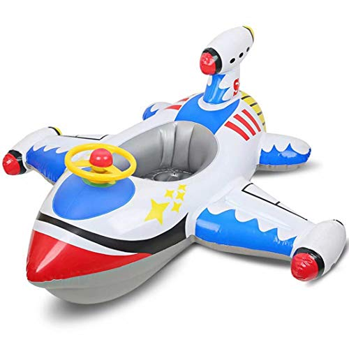 Qiao Niuniu Airplane Baby Swimming Float Inflatable Pool Floaties Toys Outdoor Swimming Ring Seat Boat for Kids Infant Toddler Baby Boys (1-6 Years)