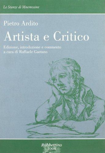 Artista e critico. Corso di studi letterari