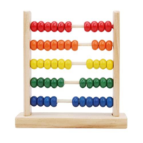 LSSJJ Holz Montessori Abacus Spielzeug Mathe Lernhilfe mit 50 Perlen Zählrahmen Lernspielzeug Geschenke für Kinder 3 4 5 6 Jahre alt Jungen Mädchen